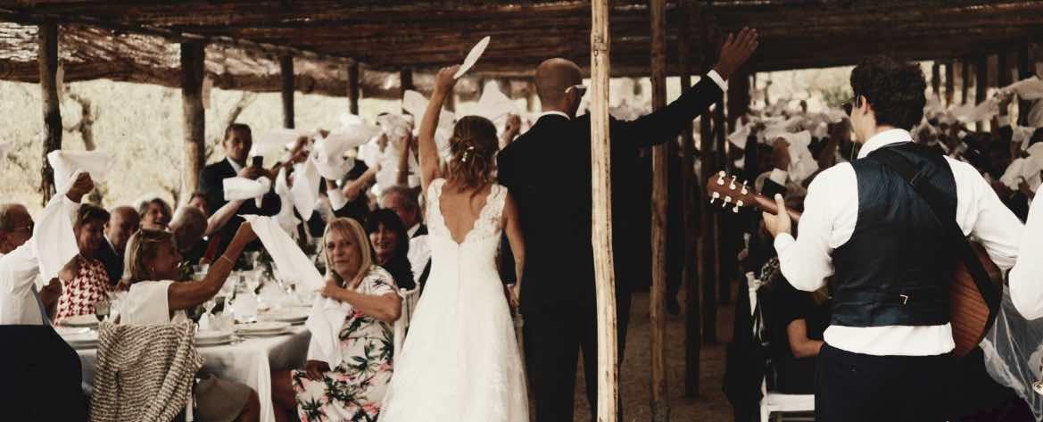 Ingresso sposi casale podere le valli