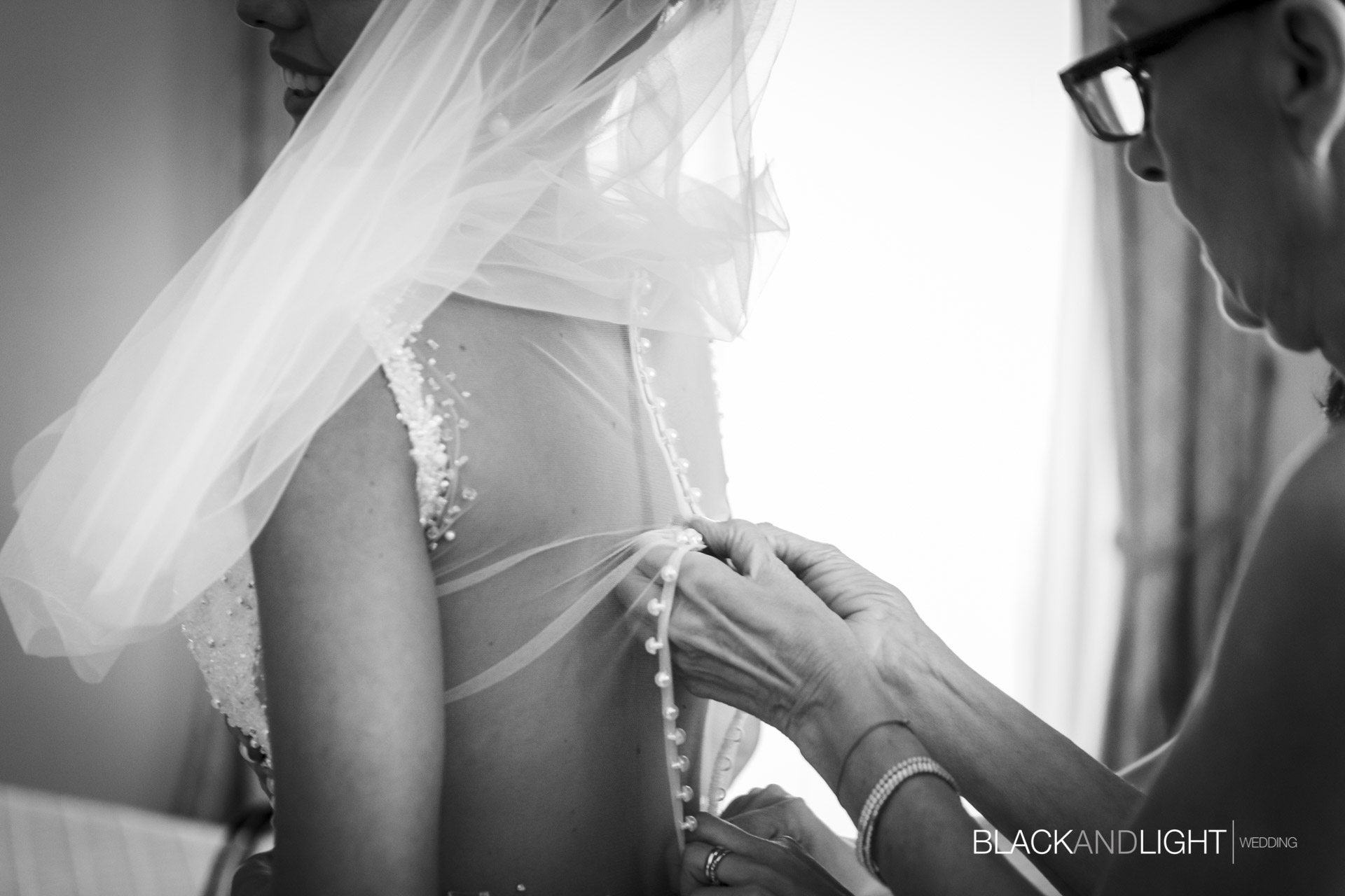 Dettaglio Chiusura Vestito Sposa