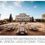 Location per Matrimonio in Italia