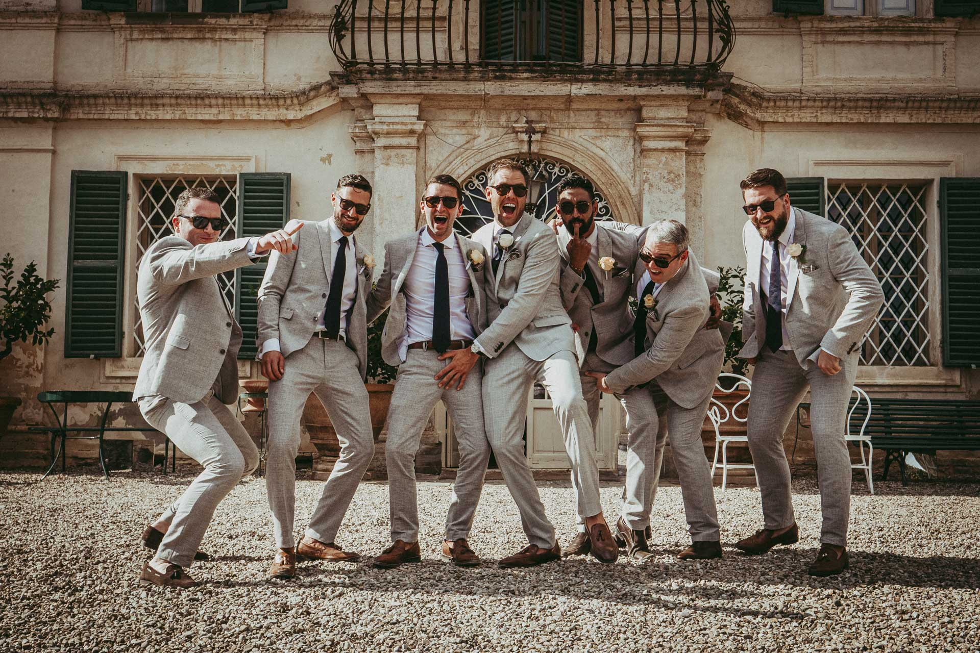 The Groom with his Friends