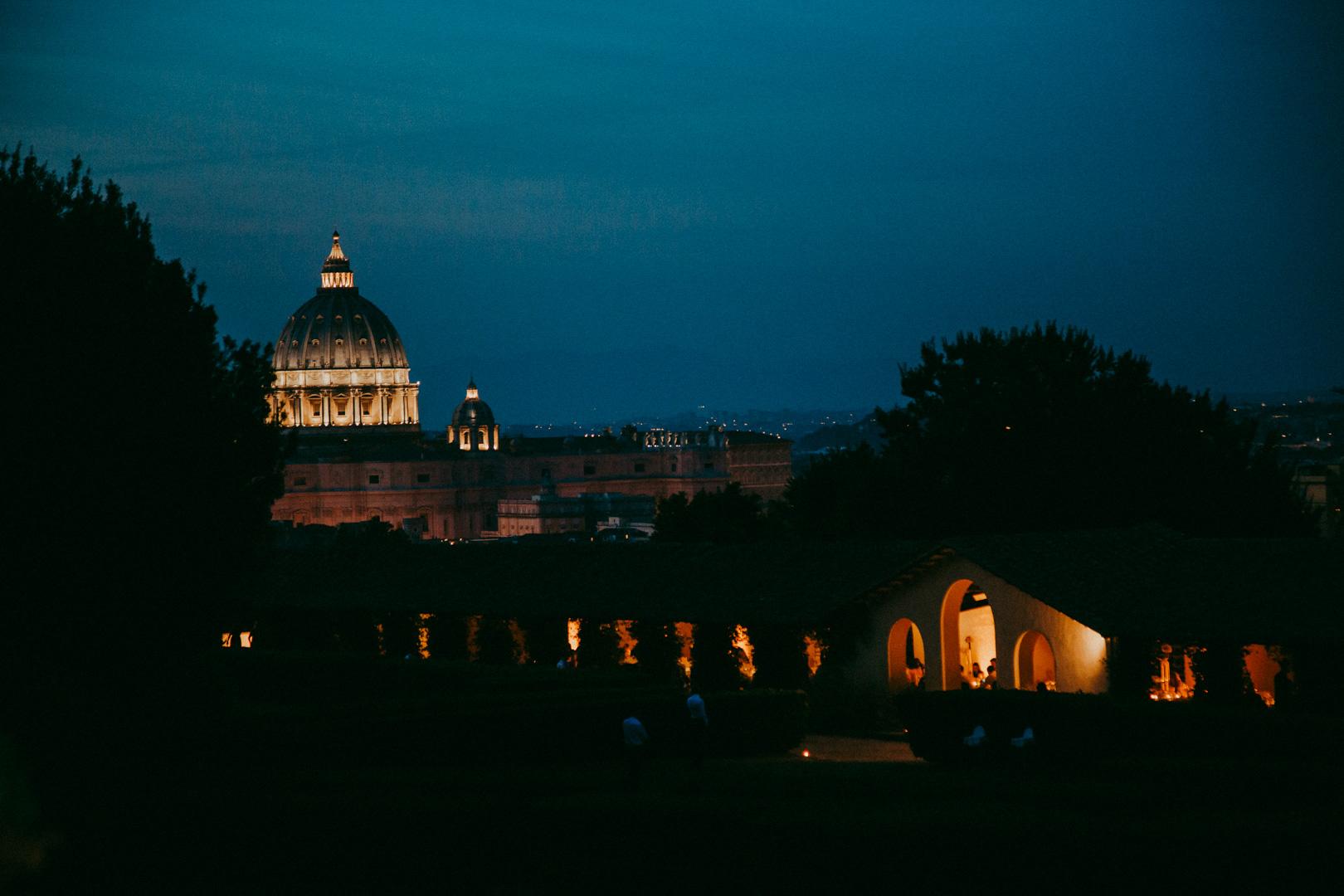 Vista San Pietro da Villa Piccolomini